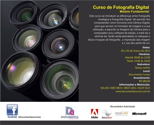 Curso de fotografia digital em Belém